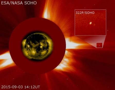 昨晚拍攝的SOHO週期彗星