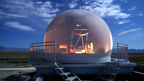 中國星象觀測網絡組一米望遠鏡開光照片