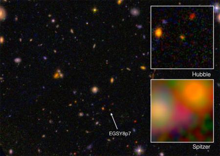 由太空望遠鏡拍攝的EGSY8p7 星系