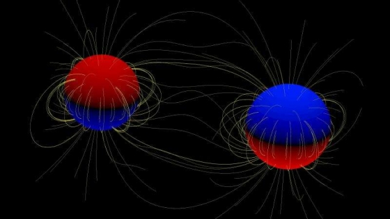 畫家筆下的強大磁場雙星系統