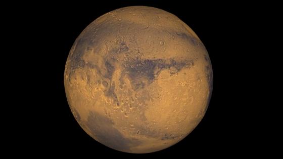 火星真實顏色的照片