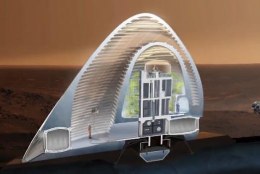 火星冰屋的設計概念圖