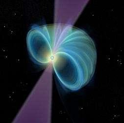 畫家筆下環繞脈衝星的磁場