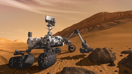 畫家筆下的好奇號火星車