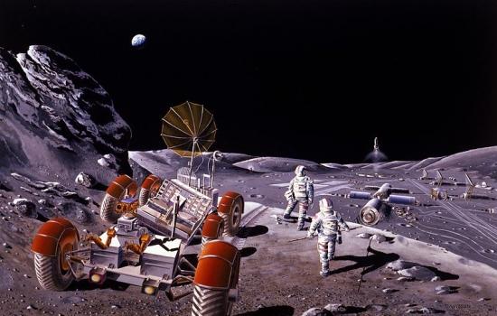 畫家構思的俄羅斯載人月球基地