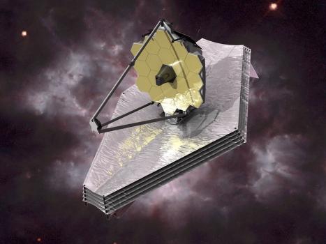 畫家筆下的詹姆斯-韋伯太空望遠鏡