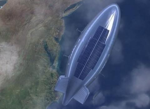 畫家筆下的圓夢號氦氣飛船