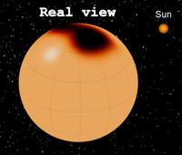 三角座編號XX恆星表面真實情況