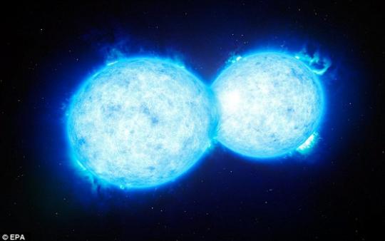 畫家筆下的超巨大雙星系統