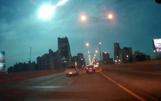 行車記錄儀拍攝的火流星