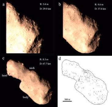 圖塔蒂斯小行星的光學圖像