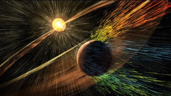 火星大氣被太陽風吹走
