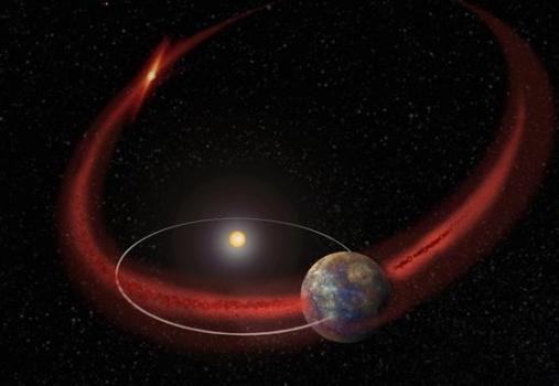 水星穿過恩克彗星殘餘物的軌道