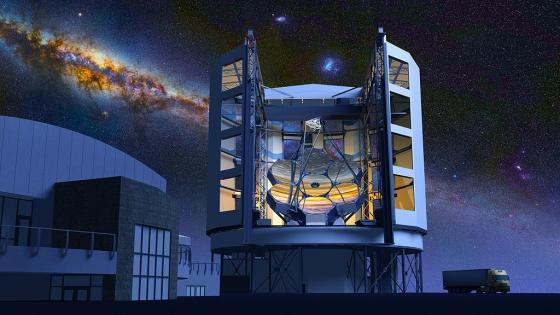 畫家筆下的巨型麥哲倫望遠鏡