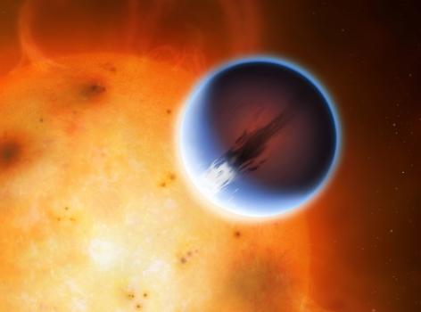 畫家筆下的赤道上有強風帶的系外行星