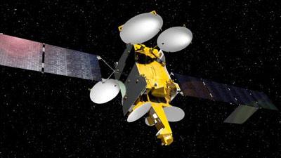 畫家筆下的泰事達12V通訊衛星