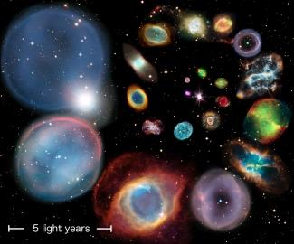 22個離地球不同距離的行星狀星雲