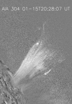 研究中心觀測到的日冕噴流