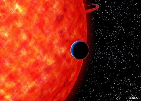 畫家筆下的系外行星 GJ 3470b