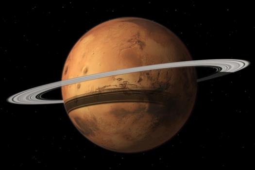 畫家筆下的火星環
