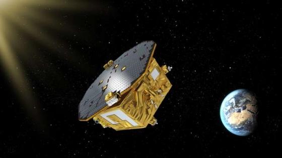 畫家筆下的重力波探測衛星