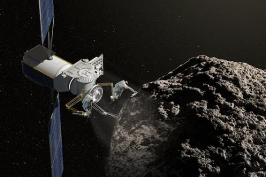 畫家筆下的私人企業在小行星採礦