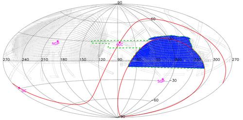 南銀冠u波段巡天數據釋放天區覆蓋圖