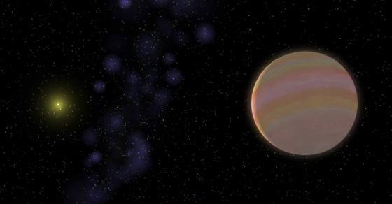 畫家筆下的HD32963恆星和新發現的類木星行星