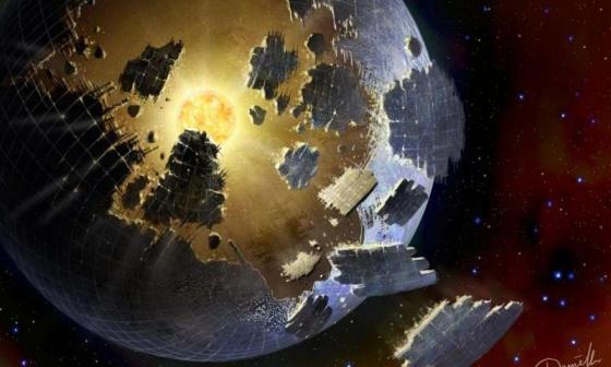 畫家構思恆星異常的光度變化與外星文明有關