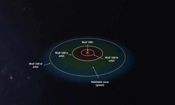模擬 Wolf 1061系統的軌道結構