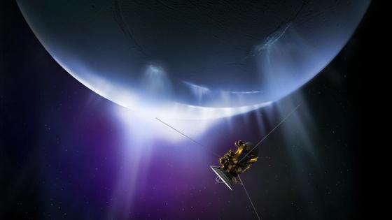 畫家筆下卡西尼號飛掠土衛二南極熱液噴泉