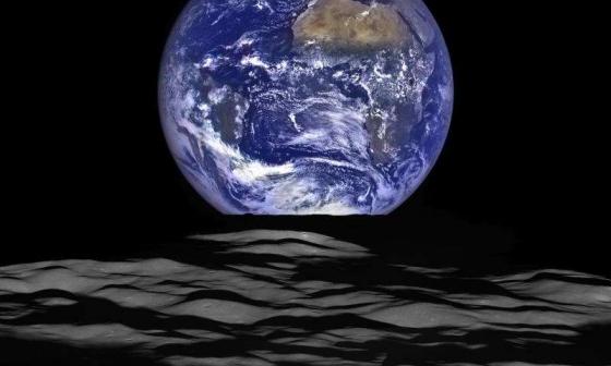 在月球軌道拍攝到地球升起的高清照片
