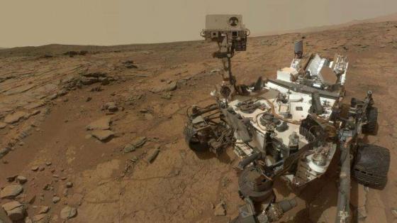 好奇號火星車自拍照片