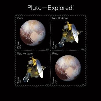 紀念新視野探索冥王星的永久通用郵票