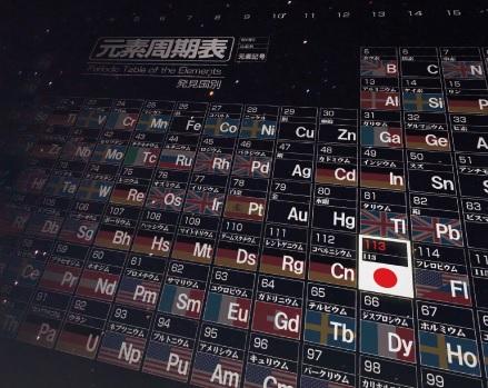 日本理化學研究所發現的第113號元素