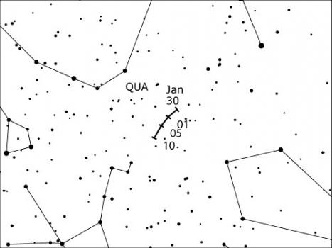 象限儀座流星雨輻射點位置