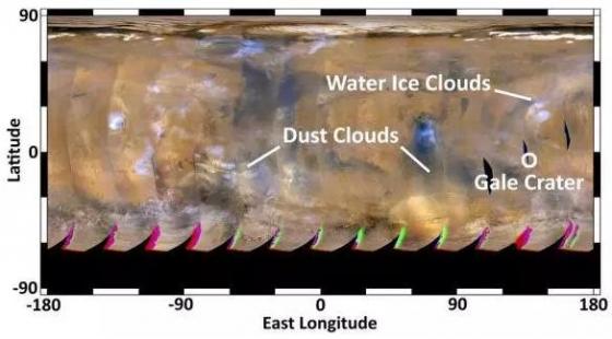 火星沙塵暴的分佈與移動路線