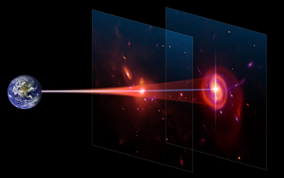 利用背景星系測量氣體雲的大小