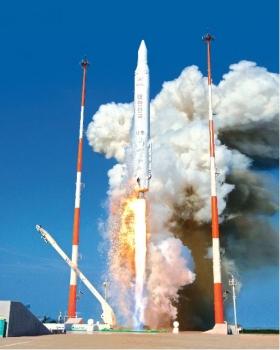 韓國的羅老號運載火箭發射情況