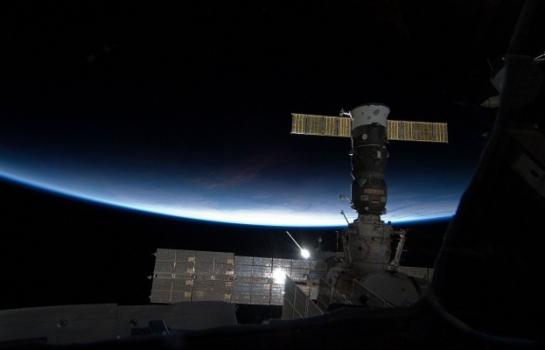停泊在國際太空站的聯盟號太空船