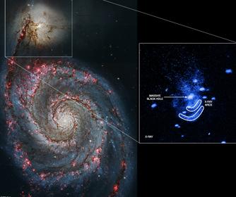 NGC5195螺旋星系和X射線弧