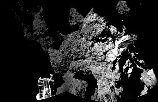 菲萊登陸彗星的位置