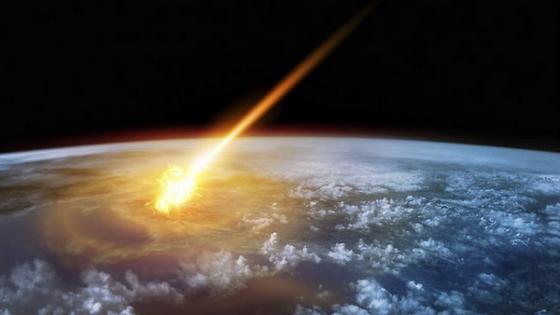 畫家筆下小行星撞擊地球