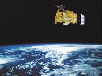 畫家筆下的海洋二號衛星
