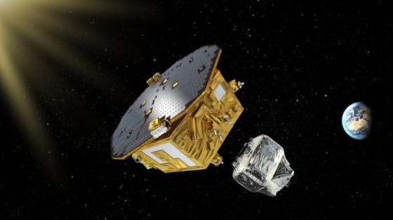 畫家筆下的LISA探路者衛星