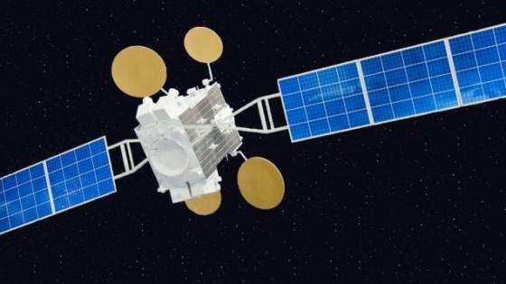 AMOS-5商業通訊衛星的設計圖像