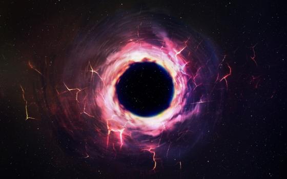 畫家構思的黑洞存在的軟毛粒子