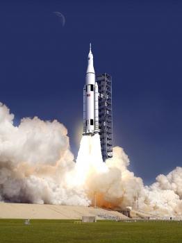 畫家筆下的太空發射系統運載火箭