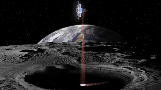 畫家筆下前往月球探測的微型衛星