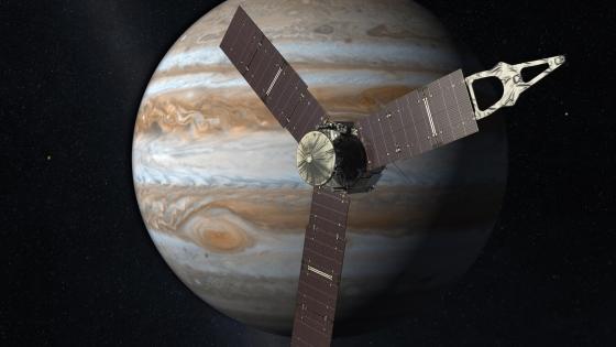 畫家筆下的朱諾號木星探測太空船